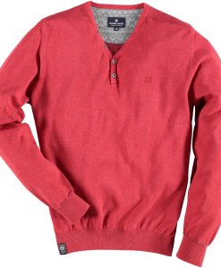 Fellows Pullover Ronde Hals Rood