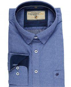 Redmond-Overhemd Blauw Print