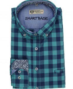 Redmond Overhemd Ruit Groen_Blauw